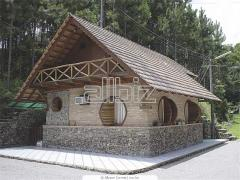Construction of country wooden houses