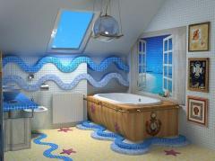 Укладка керамической плитки и мозаики.