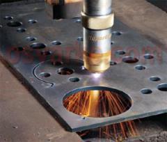 Plasma cutting of metal, metal leaf, hardware