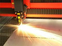Coronary (laser) cutting of metal, metal leaf,