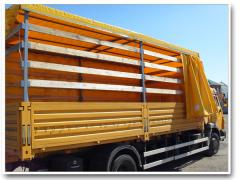 Tailoring of awnings on trucks, Production of