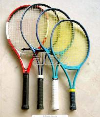 Banner of tennis rackets