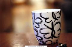 Нанесение рисунка на чашки методом шелкографии