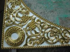 Dressing by gold leaf