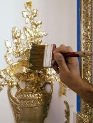 Gilding of objects of arts and crafts