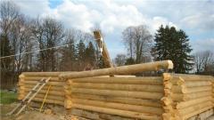 Строительство срубов русской и канадской рубки