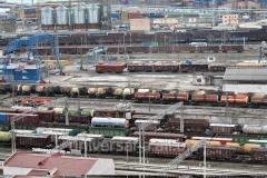 Logistics on railway transport of service