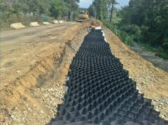 Restoration of a road bed of the highway