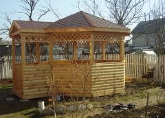 Installation of wooden arbors to order, Kiev