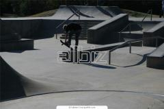 Device of skateparks, design of a skatepark