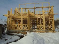 Construction of wooden frame houses to order, Kiev