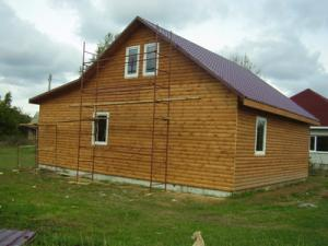 Turnkey construction of country wooden houses,
