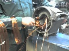 Перемотка и ремонт эл. двигателей