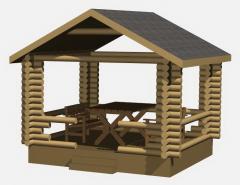 Беседки деревянные, строительство, установка