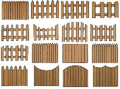 Заборы из дерева