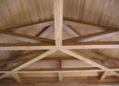 Construction of wooden designs, constructions in