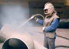 Sandblasting of surfaces (peskostruy) for cleaning