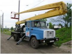 ВС-22МС ЗИЛ-130 предназначена для подъема людей и оборудования на высоту до 22 метров