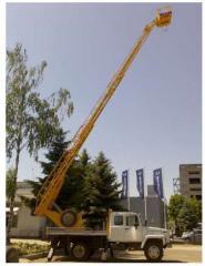 Автовышка АП – 18 Автовышка АП-18 предназначена для подъема на высоту до 18 м одного-двух рабочих с материалами и инструментами для производства ремонтных и строительно-монтажных работ.