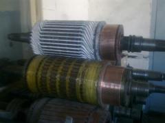 Repair of anchors of electric motors of direct