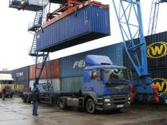 Transportations are container
