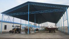 Installation of canopies in Zhytomyr, the Zhytomyr