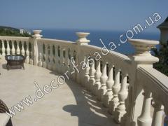 Development of design of balconies Crimea