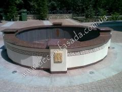 Construction of fountains and falls Odessa