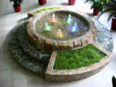 Building fountains and waterfalls