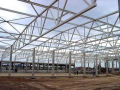 Construction of trade pavilions,