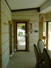 Interior finish of walls, halls, loggias,
