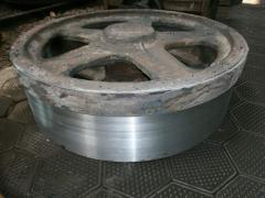 Production of cogwheels