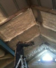Теплоизоляция крыш (нанесение пенополиуретана)
