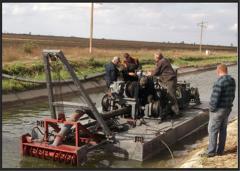 Repair, restoration and service of dredges. Parts