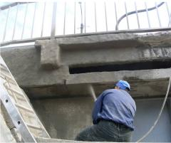 Concrete sanitation, waterproofing with primeney