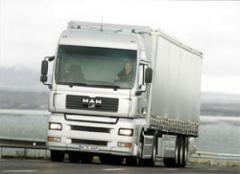 Freight automobile transportation across Kiev and