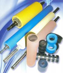 Rubberizing and polishing of shaft, rollers of
