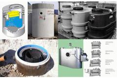 Separators of fat and oil products for sewage