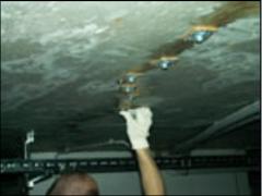 Injection of cracks of Minova concrete, ...