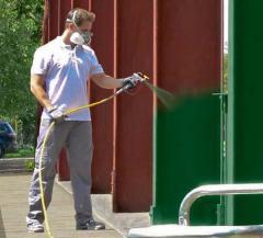 Покраска безвоздушным распылением стен, заборов, потолков, гаражей и других поверхностей