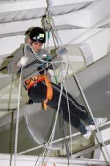 Safe methods of steeplejack works at height with