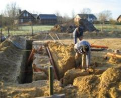 Safe methods when performing earthwork in a