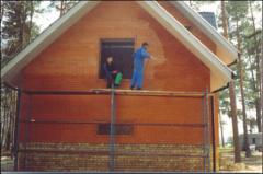 Cleaning of facades of vysol,  gidrofobizatio