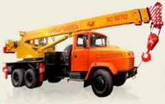 Rent of the truck crane Kiev