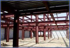 Production and installation of metal frameworks of