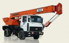 Services of the truck crane, rent of the truck