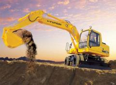 Rent of excavators, services of excavators