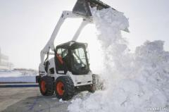 Cleaning, snow export, clearing of territroiya