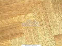 Parquet works, laying of a parquet board.