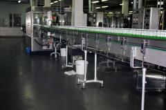 Production of concrete floors, device of floors,